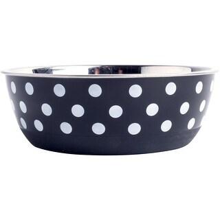 "Black & White Spots - Petface Non Slip Dog Bowl 4.7"""