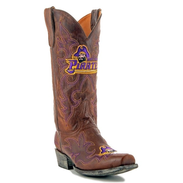 Gameday Boots Womens College East Carolina Pirate Brass