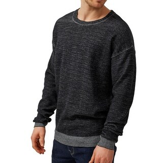 Selected Homme NEW Black Mens Size Large L Heathered Crewneck Sweater