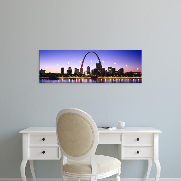 Easy Art Prints Panoramic Images's 'Skyline St Louis Missouri USA' Premium Canvas Art