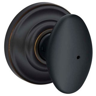 Schlage F40-SIE-AND Siena Privacy Door Knob Set with Decorative Andover Rose