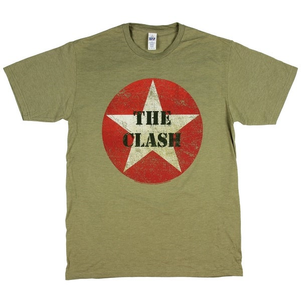 5e2a2082 Shop The Clash Men's T-Shirt Combat Army Green Graphic Punk Band Tee - Free  Shipping On Orders Over $45 - Overstock - 22160652