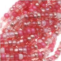 Czech Seed Beads Size 11/0 Pretty Princess Pink (1 Hank)
