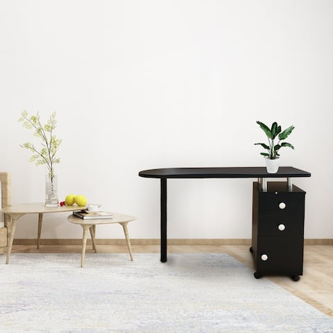 Atmospheric Simplicity Manicure Nail Table with Drawer