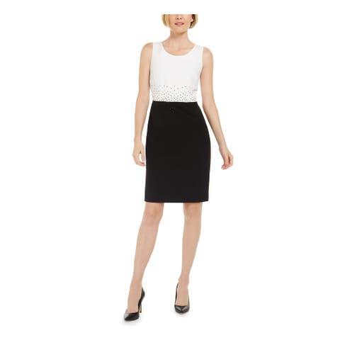 KASPER Black Sleeveless Above The Knee Dress 4