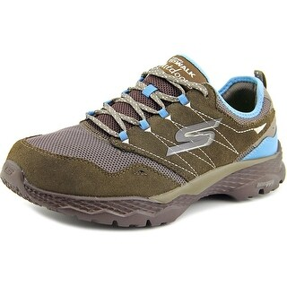 Skechers Go Walk Outdoor-Journey Women Round Toe Suede Brown Walking Shoe