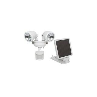 MAXSA INNOVATIONS MXI44217W Maxsa Innovations 44217 Solar-powered Dual Head Led Security Spotlight