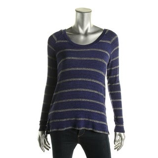 Red Haute Womens Knit Striped Pullover Sweater