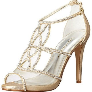 Caparros Womens Ellen Open Toe Special Occasion Ankle Strap Sandals