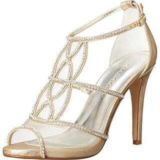 Caparros Womens Ellen Open Toe Special Occasion Ankle Strap Sandals