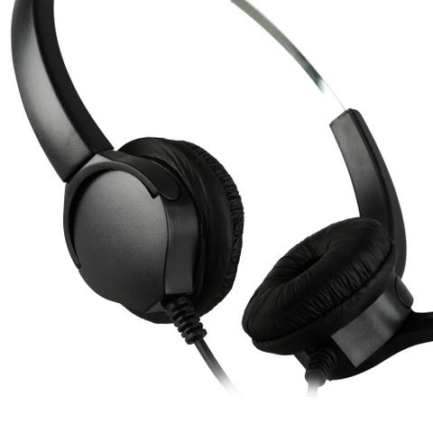 4Pin RJ9 Crystal Headset Handsfree Call Center Noise Cancellation - Black