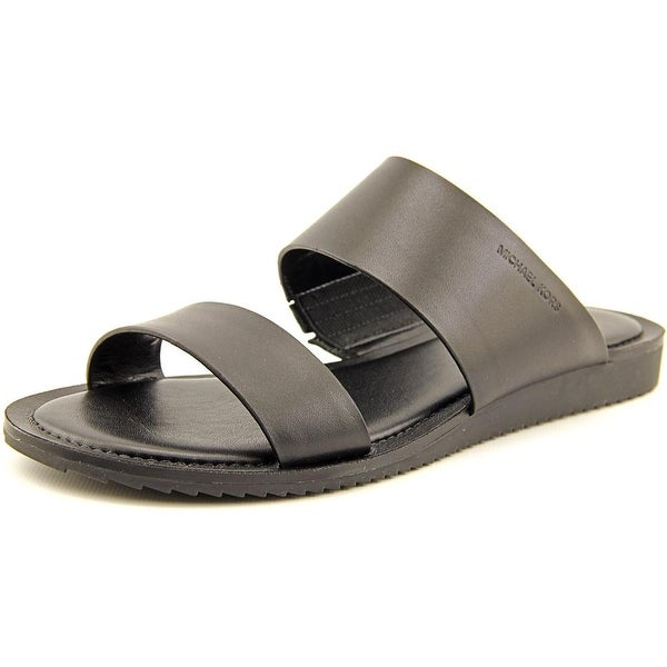 Michael Michael Kors Millie Slide Women Open Toe Leather Black Slides Sandal