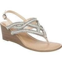 b3f86524924 Shop Fergalicious Women s Courtesy Wedge Sandal White Polyurethane ...