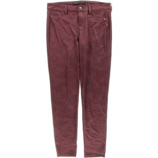 Tinseltown Womens Juniors Skinny Pants Faux Leather Crackle