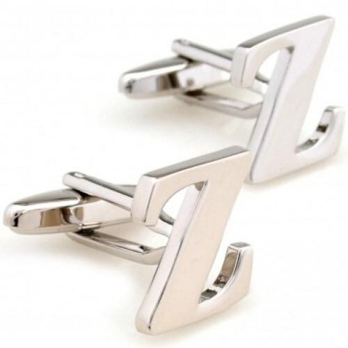 Letter Z Alphabet Initial Cufflinks