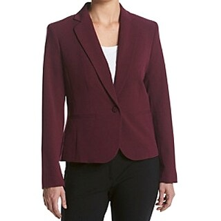 Nine West NEW Purple Women's Size 8 Solid Notched Collar Seamed Blazer