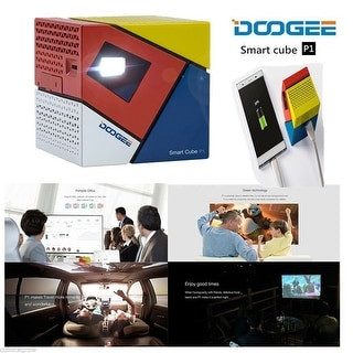 DOOGEE Smart Mini DLP LED Projector Android 4.4 WiFi HDMI Speaker Box Power Bank