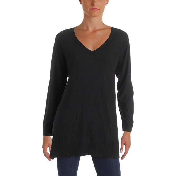 c8a799d8f0f Shop Pure DKNY Womens Pullover Sweater Wool V-Neck - l - Free ...