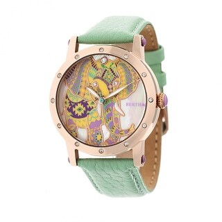 Bertha Betsy Women's Quartz Watch, Genuine Leather Band, Luminous Hands