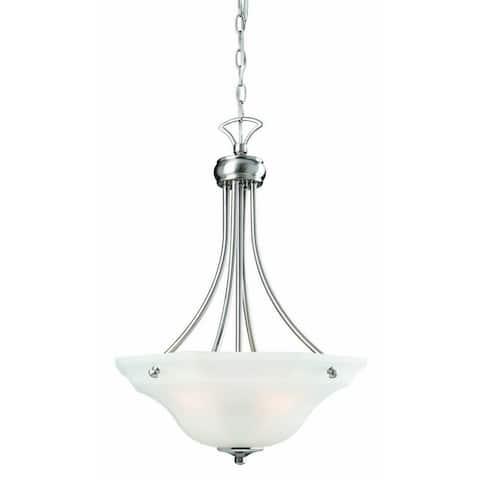 Design House 517961 Barcelona 3-Light Pendant Light Black - Satin Nickel
