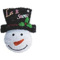 F C Young Snowman Welcome Wreath 18W-SMW Unit: EACH Contains 6 per case