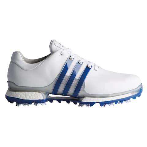 Men's Adidas Tour 360 Boost 2.0 White/Royal Golf Shoes F33626 (MED)