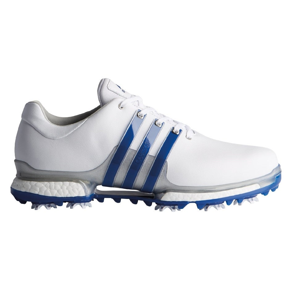 Men's Adidas Tour 360 Boost 2.0 White/Royal Golf Shoes F33791 (WIDE)