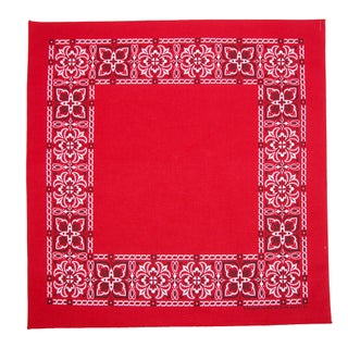 CTM® Open Center Paisley Print Bandana - One size (3 options available)