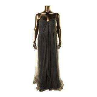 Jenny Yoo Womens Plus Bodice Sweetheart Evening Dress - 24