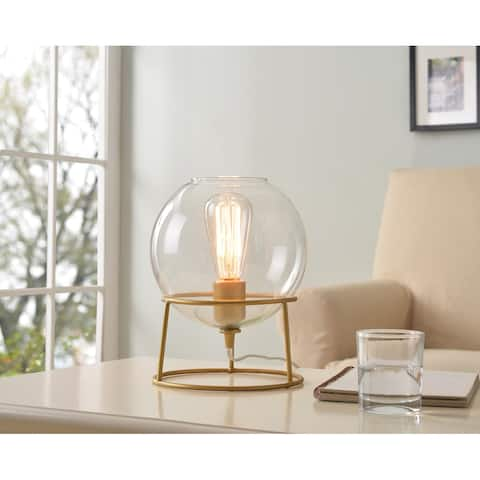 Sydney Accent Lamp with Clear Glass 10 Inch