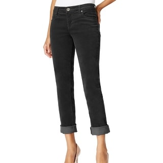 Kut From The Kloth NEW Gray Women's Size 10 Catherine Corduroys Pants