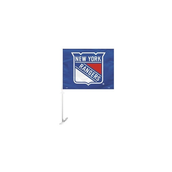 Fremont Die Inc New York Rangers Car Flag With Wall Brackett Car Flag