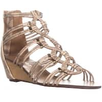 Report Maple Wedge Zip Up Sandals, Gold
