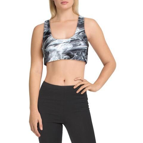 Betsey Johnson Performance Womens Sports Bra Fitness Workout - Black - M