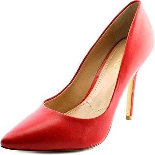 Charles By Charles David Pact Women Pointed Toe Leather Red Heels