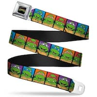 Classic Tmnt Logo Full Color Classic Teenage Mutant Ninja Turtles Face Seatbelt Belt