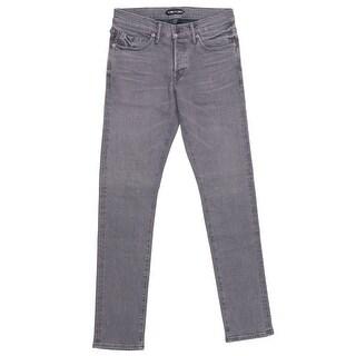 Tom Ford Selvedge Denim Jeans Medium Grey Wash Slim Fit Model