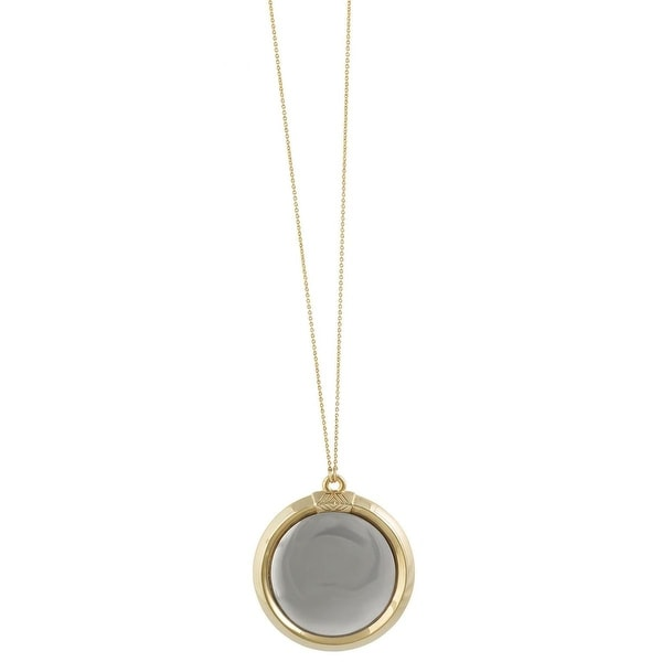 House of Harlow by Nicole Richie Womens Caral Culture Pendant Necklace Two Tone - Gold/Silver