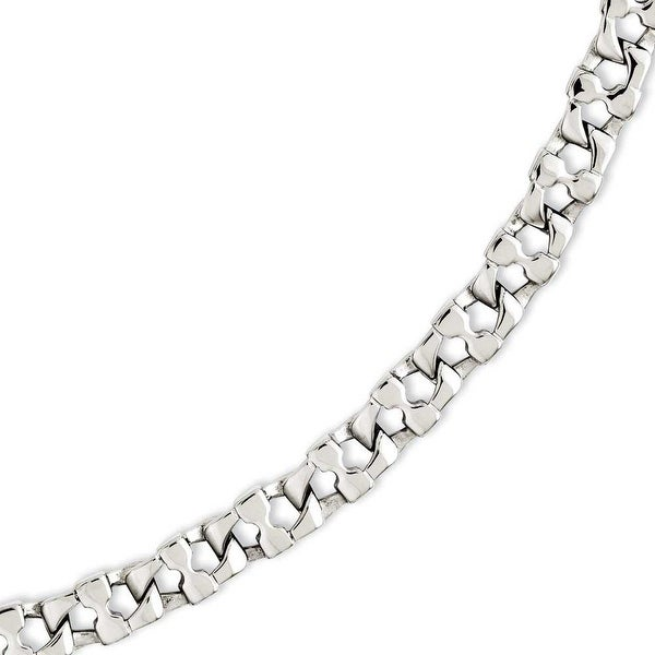 Chisel Stainless Steel Square Link 8.5in Bracelet