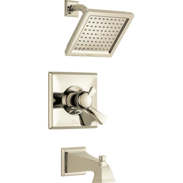 Delta T17451 Dryden Tub and Shower Trim Package with Single Function Shower Head and Touch Clean Technology