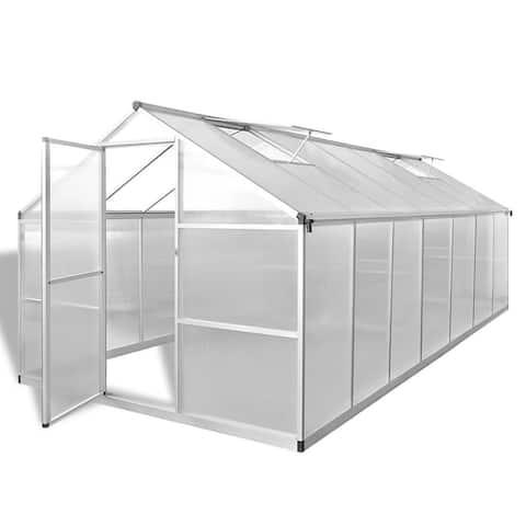 vidaXL Greenhouse Reinforced Aluminium 113.34ft²