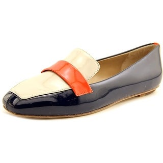 Delman Fab Women Square Toe Patent Leather Blue Loafer