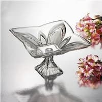 Studio Silversmiths Laurie Large Footed Square Bowl - 12.0 in. x 12.0 in. x 7.0 in.
