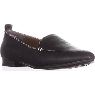 White Mountain Nash Classic Loafers, Black Leather - 5 us