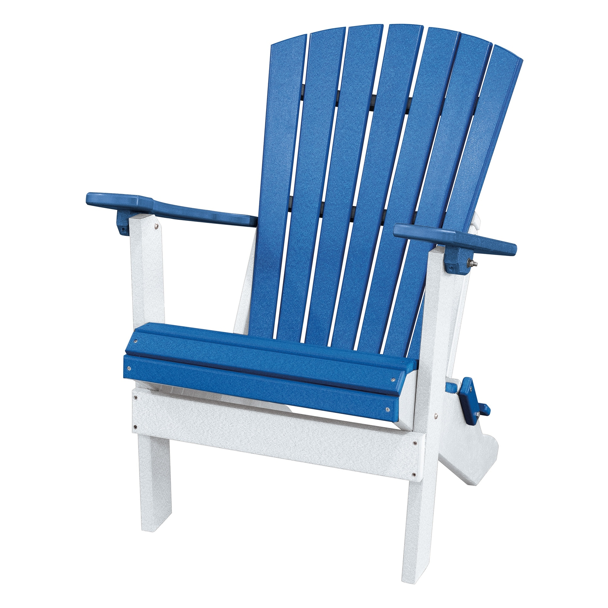 Shop Os Home And Office Model 519bw Fan Back Folding Adirondack Chair Made In The Usa Blue White Overstock 31753979