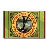 Chula Vista CA Peerless Brand Citrus Vintage Label (Acrylic Wall Clock) - acrylic wall clock