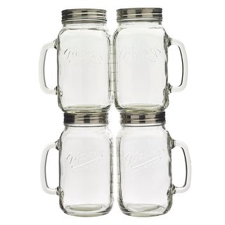 Link to Mason Craft & More 4PC 32oz Glass Jar with Handle Similar Items in Glasses & Barware