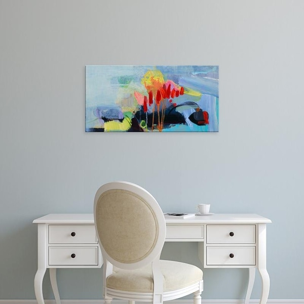 Easy Art Prints Lina Alattar's 'Fluttering My Way Through 3' Premium Canvas Art