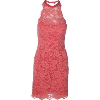 Nicole Miller Womens Lace Boning Cocktail Dress