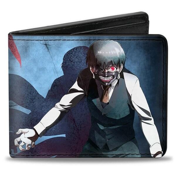 Masked Ken Kaneki Pose Shadow + Tokyo Ghoul Bi Fold Wallet - One Size Fits most